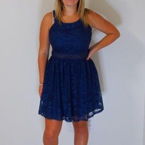 Charlotte Russe blue formal dress
